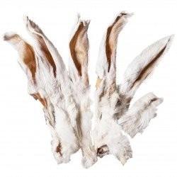 Kaninchenohren getrocknet mit Fell 1000g
